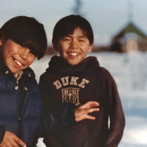 Brothers, Chris and Johnny Nikolai, in Telida, Alaska. photo credit: Gretchen Liuzzi