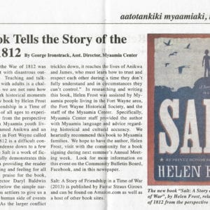 Review in the Miami Tribe of Oklahoma newspaper