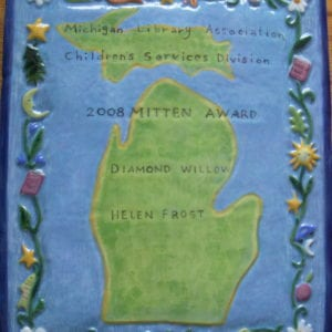 Ceramic plaque designed and created by Marcia Hovland
