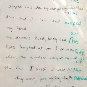Mrs. Salas' 5th grade class wrote this poem, using the form of Darra's poems.