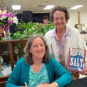 Celebrating Salt at the Miami Tribe of Oklahoma annual meeting, 2014 Helen Frost with Adelaide Masenthin