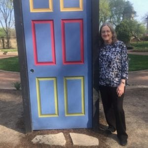 I came across this door in a Chicago city park, and it reminded me of Keesha's House.
